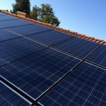 Solar Panels on House Rooftop in Central Valey