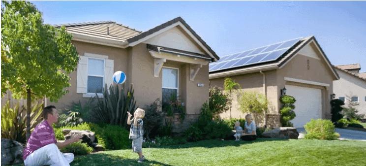 father son solar home